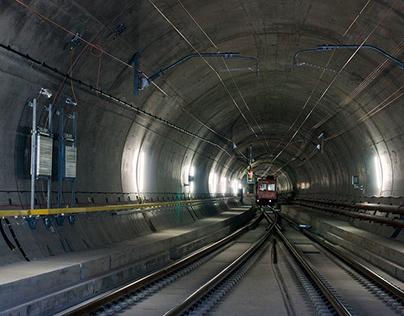 Gotthard Base Tunnel in Switzerland