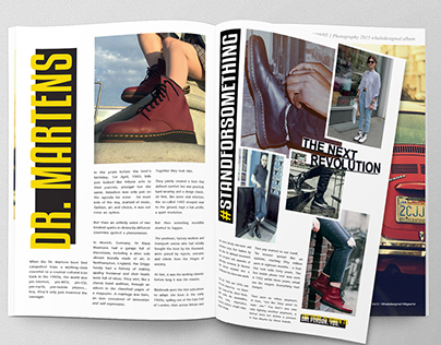 Dr. Martens - Double Spread Page Layout