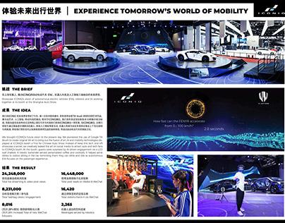 ICONIQ Electric Vehicle Launch via VR, AI, Robotics