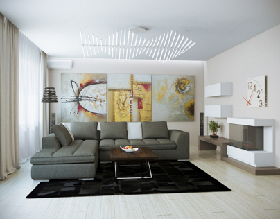 Design and visualization of the interior