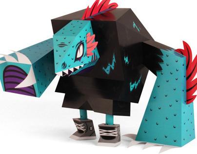 Lizard - Papertoy