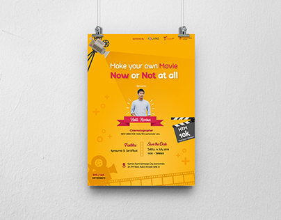 """Poster for """"Make Your Own Movier"""" Event"""