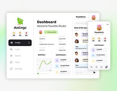 User Profile Design - Duolingo 🦉💬