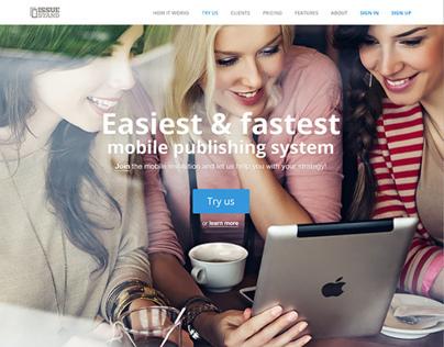IssueStand.com complete website design