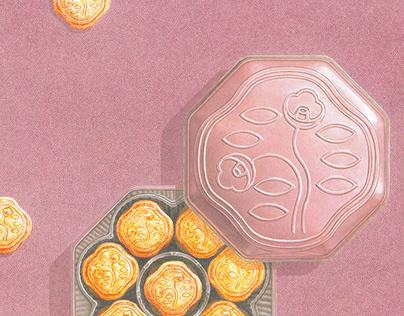 Illustration for the Shiseido Parlour 2020AW catalog