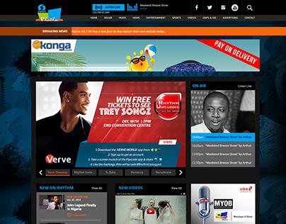 Silverbird Rhythm 93.7 fm Website Redesign