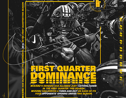 2019-20 Mizzou Football Stat Graphics