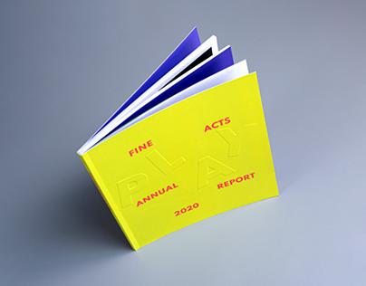 Fine Acts Annual Report 2020 / Book Design