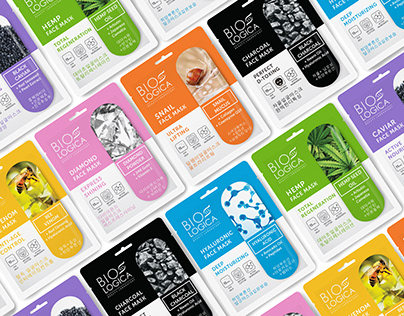 Biologica face masks and patches | Package design