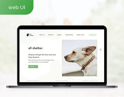 Shelter Website (web design, logo design)