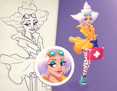 Vampire Nurse character for #CDC | Illustration