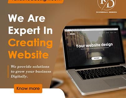 Website Design Offer Ads Banner