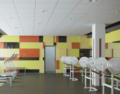 Design and visualization of the gymnasium