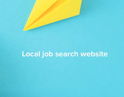 Local job search website
