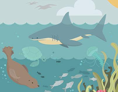 Ocean Food Chain Illustration