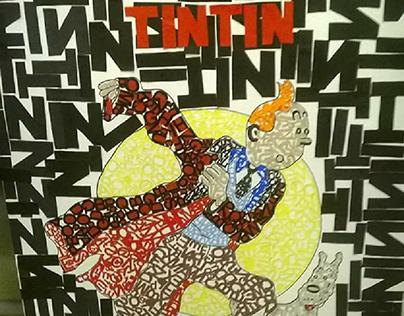 Painel tipográfico-TINTIN