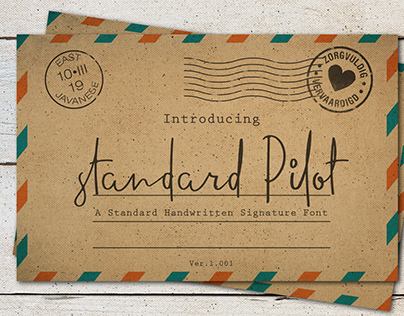 FREE STANDARD PILOT FONT