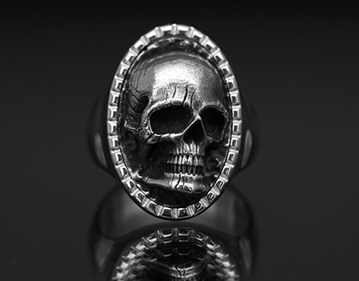 Big Eyes Skull Ring