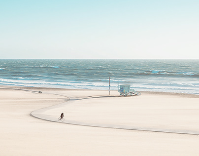Windy Beach Cyclists