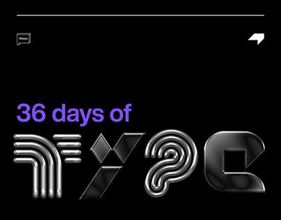 36daysoftype — 2020