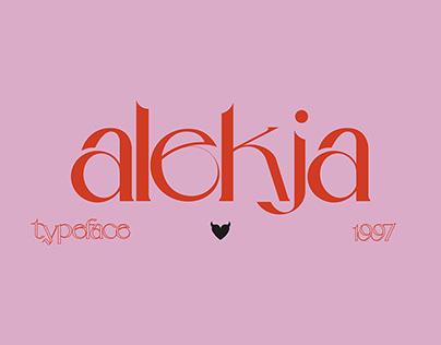 ALEKJA SERIF - Typeface 1997