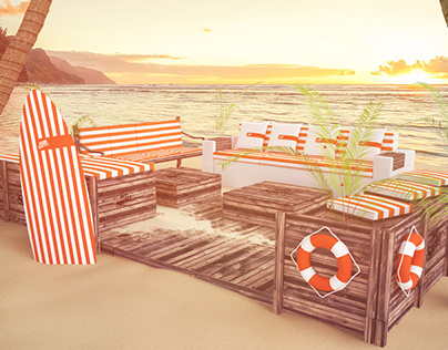 Beach Lounge Aperol and Campari