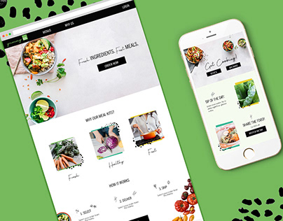 Meal Delivery Service UI/UX Multi-Screen Design
