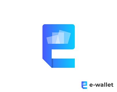 E-wallet Logo Design | E Letter Mark