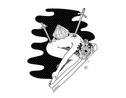 Surreal b&w illustrations