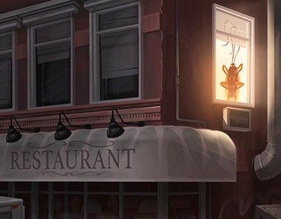 """Apartment above the restaurant"""