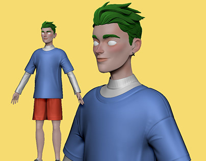 My 3d Boy Character (Working on)