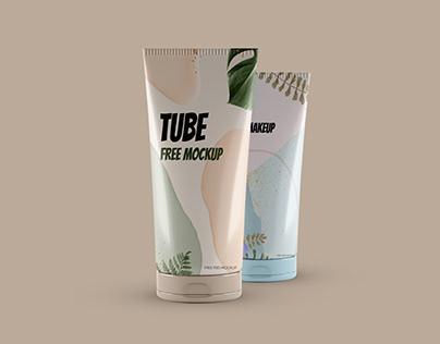 2 Cosmetic Tubes Free Mockup