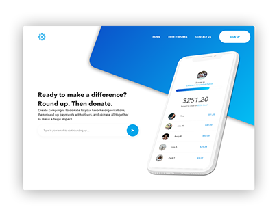 RoundUp App & Website UI