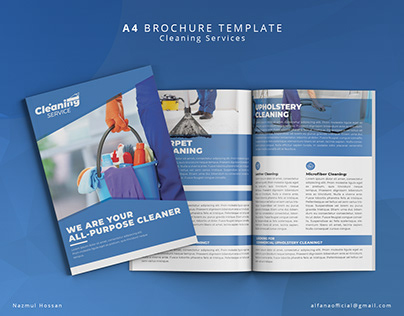 Cleaning Services Brochure Design