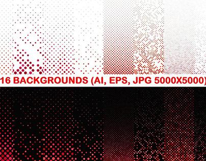 16 Red Dot Patterns