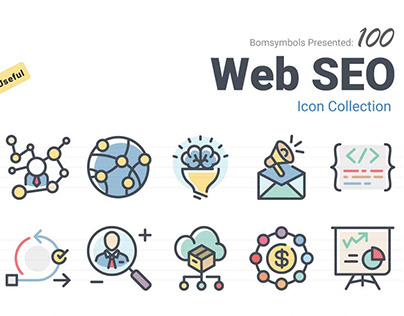 Web SEO icons collection