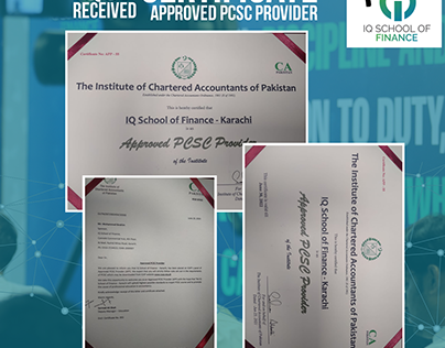 Poster about Received Certificate