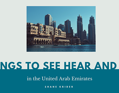 Shane Krider | Things to Do in the UAE