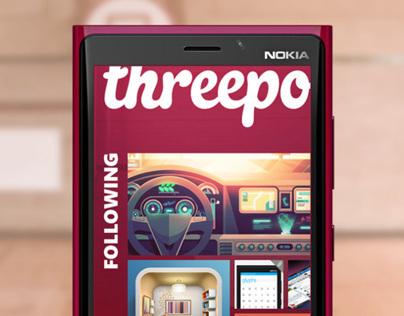 Threepointer - unofficial dribbble app for WindowsPhone