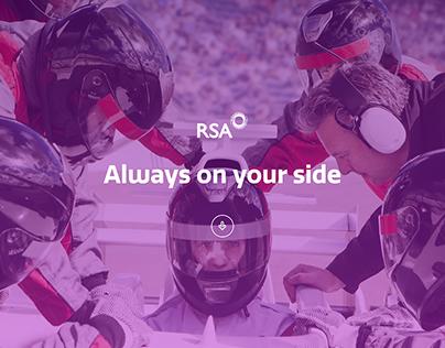 RSA - Always on your side website
