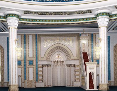 The interior of mosque in the city of Dashoguz - 2014