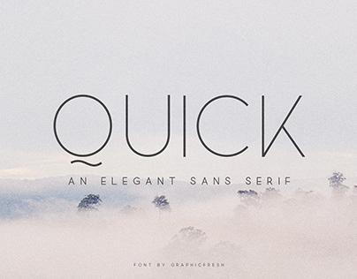 FREE FONT - Quick Elegant Sans Serif