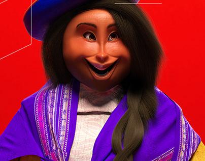 Peruvian Woman 3d Character