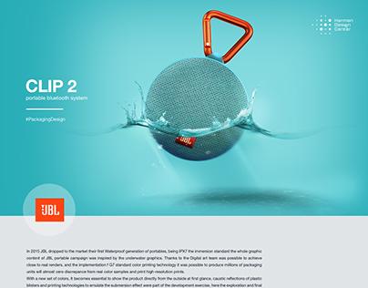 JBL Clip 2 Packaging design 2015