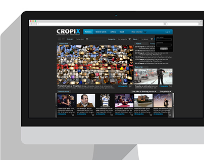 Cropix Photo Agency website