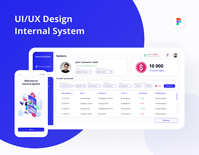 UI/UX Design Internal System