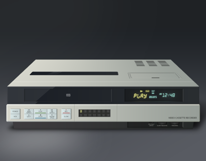 Video Cassette Recorder Illustration
