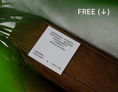 FREE MOCKUP / POSTCARD (SQUARE)