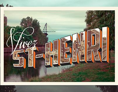 Vivez St-Henri Postcard