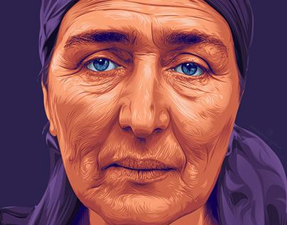 Woman, Portrait, Illustration